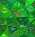 Green irregular triangle mosaic background design vector image vector image