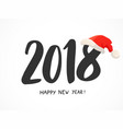 greeting card with 2018 hand drawn numbers vector image
