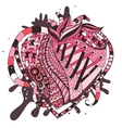 hand drawn abstract heart vector image vector image