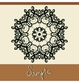 Invitation cover with mandala like oriental vector image vector image