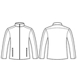 Jacket template - front and back vector image vector image