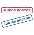 Junior Doctor Rubber Stamps vector image vector image