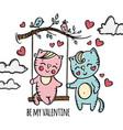 love on swing valentine day clip art vector image