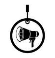 megaphone audio device vector image