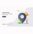 modern flat design concept map location with vector image