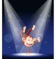 Monkey Stage Performance vector image vector image