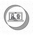 news presenter and media design vector image vector image