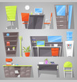 office furniture furnishings design of vector image