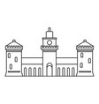 old castle icon outline style vector image vector image