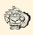 old santa hand drawn sketch vector image