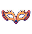 on eyes carnival mask icon cartoon style vector image vector image
