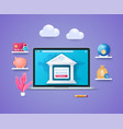 online banking in 3d style vector image