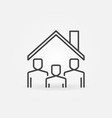 people under roline icon stay at home vector image