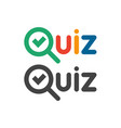 quiz game show logo quizzes and test competition vector image