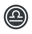 Round black Libra sign vector image