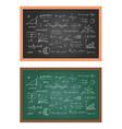 school blackboard chalkboard vector image vector image