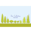 set abstract stylized trees natural vector image