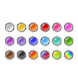 set colorful empty buttons for web vector image vector image
