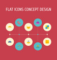 set of baby icons flat style symbols with baby vector image vector image