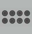 set of black round wall clock vector image vector image