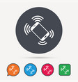 smartphone call icon mobile phone vector image