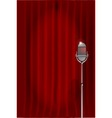 Stand Up Night Curtain vector image vector image