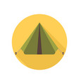 tourist tent icon camping sign and symbol vector image