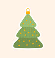 traditional christmas tree toy for holidays vector image vector image