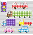 Transport textile stickers vector image