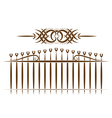 Tribal set Fence and pattern vector image