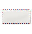View of backside of sealed DL air mail envelope vector image vector image