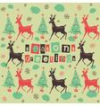 Vintage Deer Seasons Greetings vector image vector image