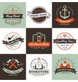 vintage logos design concept vector image vector image