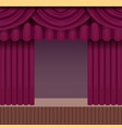 vintage theater scene background with purple vector image vector image