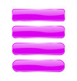 violet glass buttons shiny rectangle 3d icons vector image