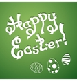 Text Happy Easter with festive eggs vector image