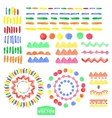 Watercolor geometric brushes setBaby style vector image