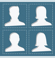 people profile silhouettes women and men vector image