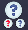 question in the circle vector image