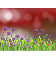 A paper with beautiful flowers vector image vector image