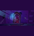 abandoned dungeon medieval castle night interior vector image vector image