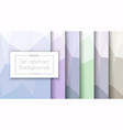 abstract pastel pattern set backgrounds vector image vector image
