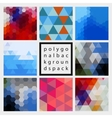 Abstract polygonal design backgrounds pack vector image vector image