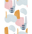 abstract winter seamless patterns in pastel colors vector image
