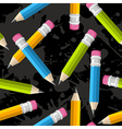 Back to school pencil grunge pattern vector image vector image