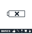 Battery icon flat
