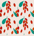 bright seamless pattern with barberry vector image vector image