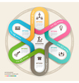 Business circle Infographics origami