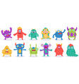 cartoon monster characters halloween funny vector image vector image