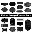 collection grunge stamp shapes vector image vector image